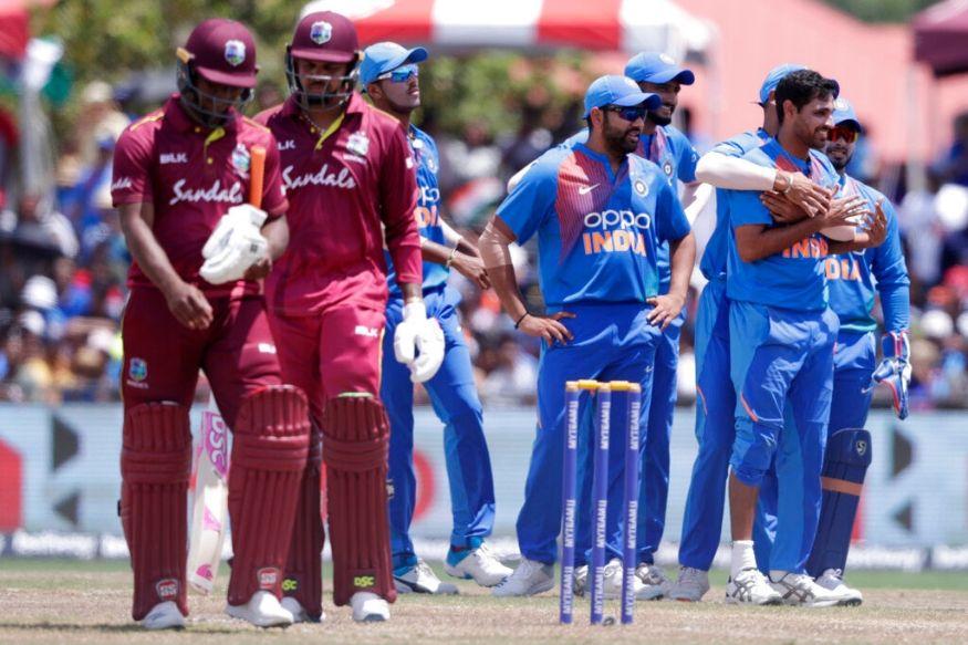 वेस्टइंडीज 15.3 ओवर में 98 रन बना पाई और बारिश आ गई