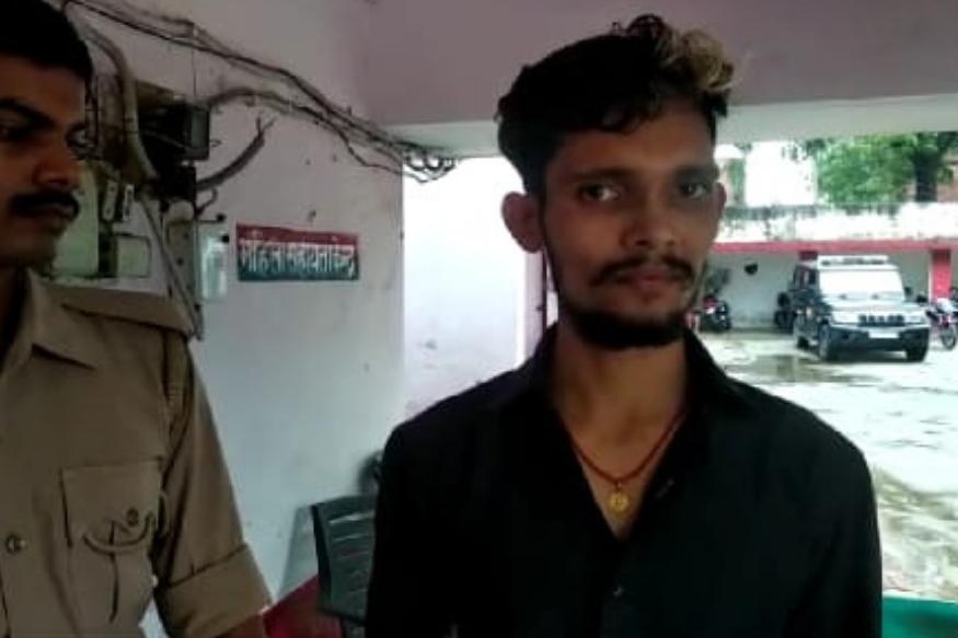 आरोपी युवक पुष्पेंद्र शर्मा उर्फ करन