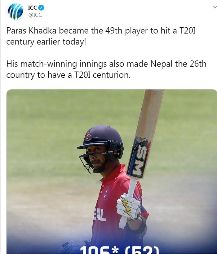 Paras Khadka, Virat Kohli, cricket, sports news पारस खड़गा, विराट कोहली