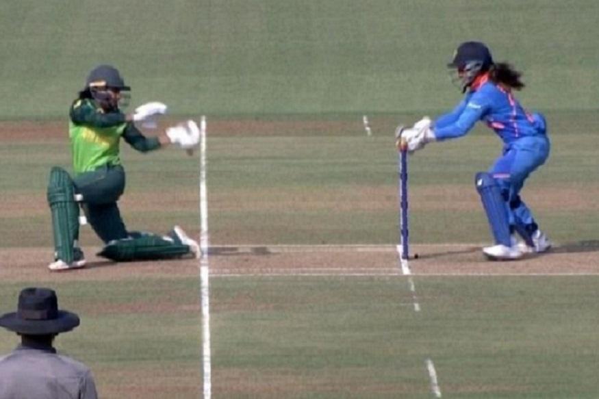 टीम इंडिया की विकेटकीपर तानिया भाटिया ने किया ऐसा स्टंप, याद आ गए एमएस धाेनी