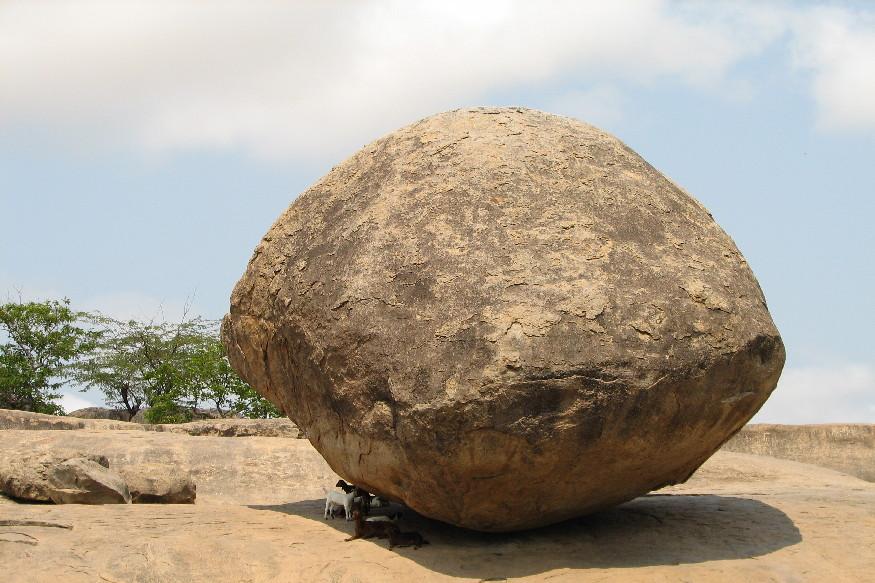 story of mahabalipuram krishna butter ball infront of which pm modi and xi jinping taken photo
