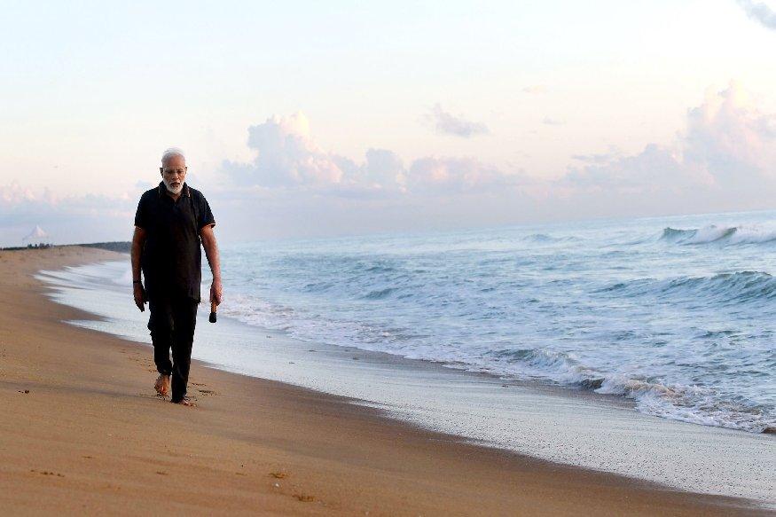what is plogging pm modi share video on twitter at mamallapuram beach