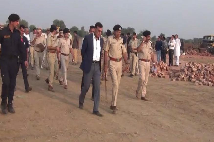 सुरक्षा को लेकर पुलिस महानिदेशक मनोज यादव ने आला अधिकारियों के साथ रैली स्थल का लिया जायजा