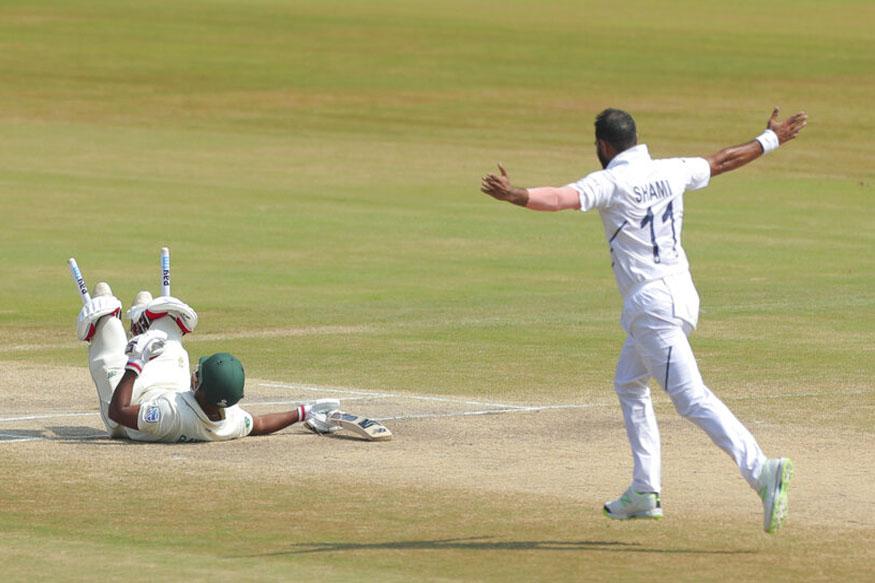 mohammad shami, shami 5 wicket haul, india south africa score, ind vs sa live score, visakhapatnam test, shami wickets, shami records, shami wicket, मोहम्मद शमी, शमी विकेट, इंडिया साउथ अफ्रीका स्कोर