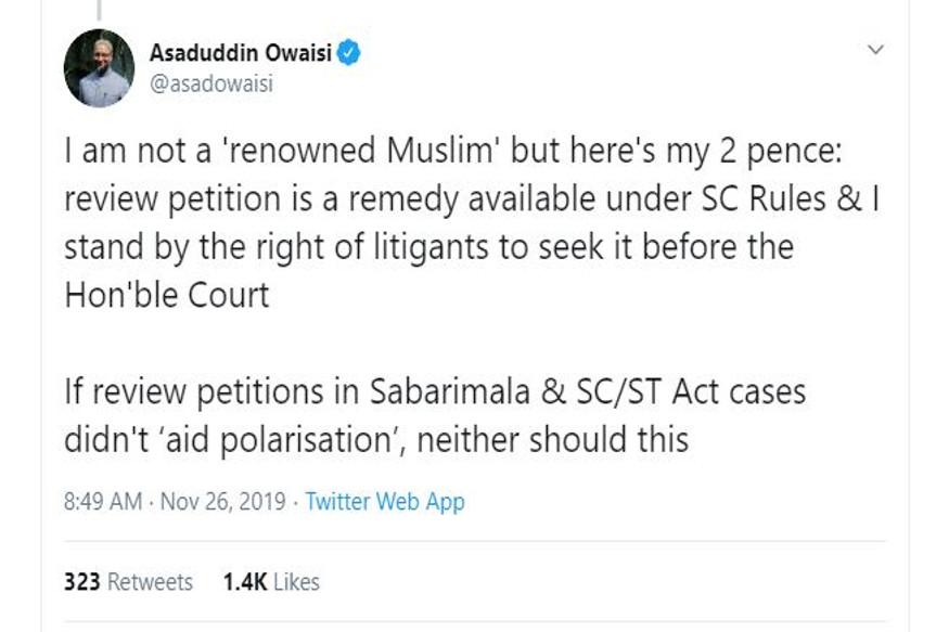 Asaduddin Owaisi, AIMIM, Sabarimala, Ayodhya, Supreme Court