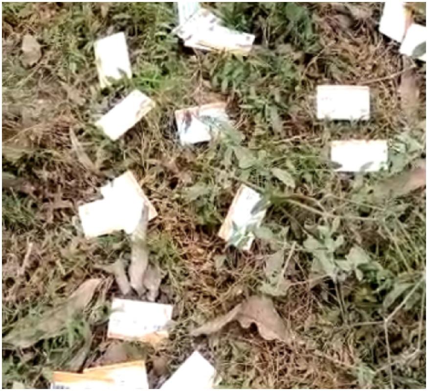 Health card of Ayushman Yojana found in bushes in Gonda
