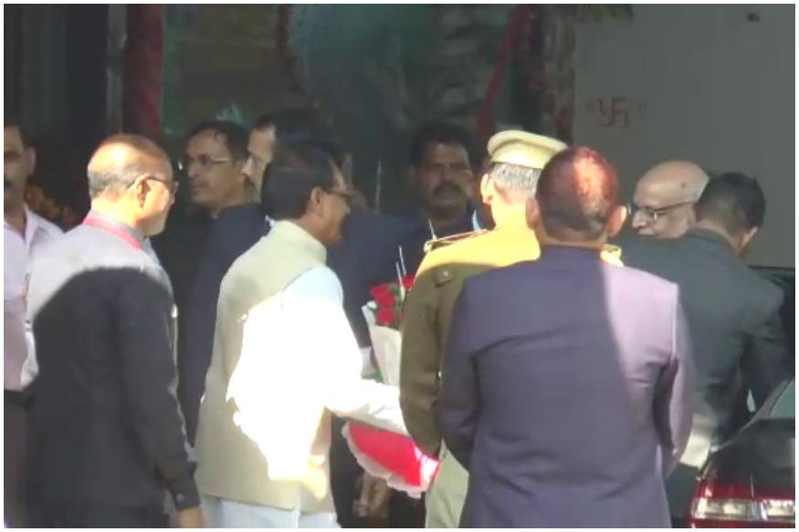 Madhya Pradesh Governor Lalji Tandon-lunch with Shivraj Singh Chouhan-Congress Statement