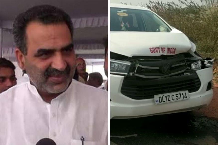 उत्तर प्रदेश केआगरा (Agra) में केंद्रीय मंत्री संजीव बालियान (Sanjeev Balyan) बाल-बाल बच गए