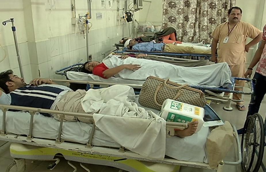 हादसे में घायल लोगों का अस्पताल में इलाज जारी