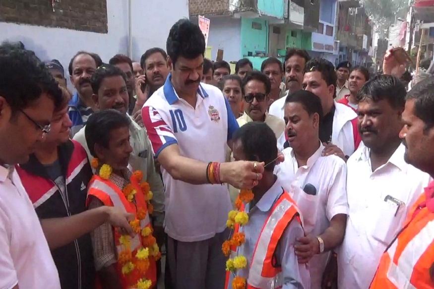 News - मंत्री गोविंद सिंह राजपूत ने सफाई कर्मियों का सम्मान किया, Minister Govind Singh Rajput