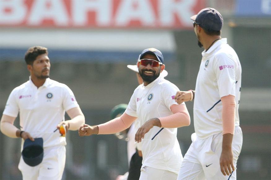 india bangladesh test, ind vs ban live score, live cricket score, indore test score, ind vs ban live, mohammed shami wickets, indore test news, इंदौर टेस्ट स्कोर, इंडिया बांग्लादेश लाइव स्कोर, लाइव क्रिकेट स्कोर, लाइव इंदौर टेस्ट
