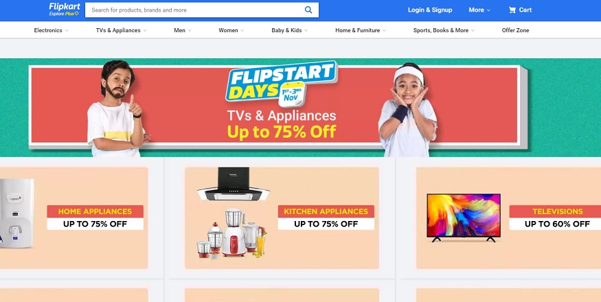 Flipkart पर फ्लिपस्टार्ट सेल चल रही है