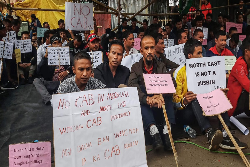 Why is there protest in the hindu areas of assam over the citizenship amendment bill