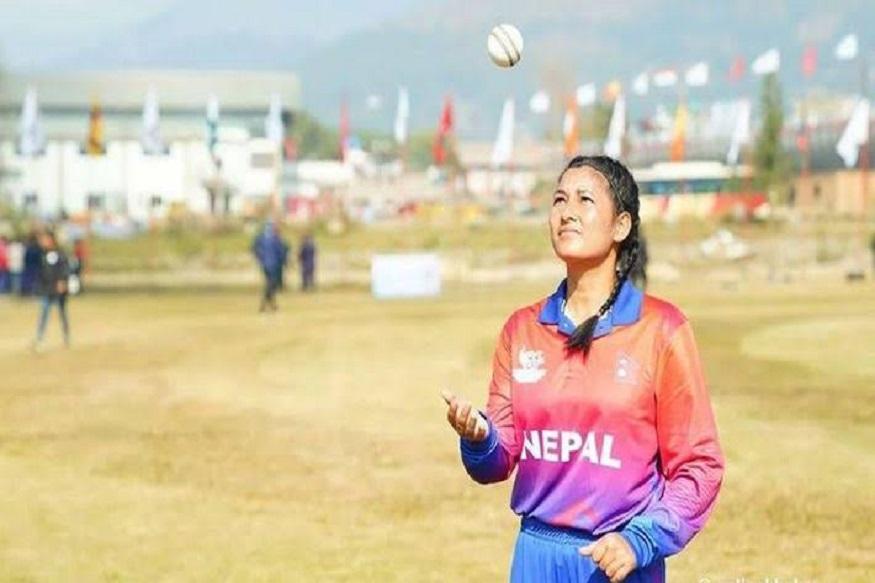 south asian games 2019, maldives women cricket team, nepal women cricket team, maldives 8 runs, team all out 8 runs, मालदीव महिला क्रिकेट टीम, साउथ एशियन गेम्स, मालदीव नेपाल क्रिकेट, 8 रन पर ऑलआउट, अंजलि चंद, anjali Chand