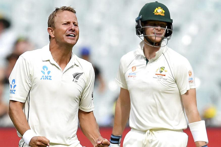 australia vs new zealand test, aus vs nz live score, live cricket score, aus vs nz score, pat cummins bowling, ऑस्ट्रेलिया न्यूजीलैंड टेस्ट, लाइव क्रिकेट स्कोर, पैट कमिंस 5 विकेट
