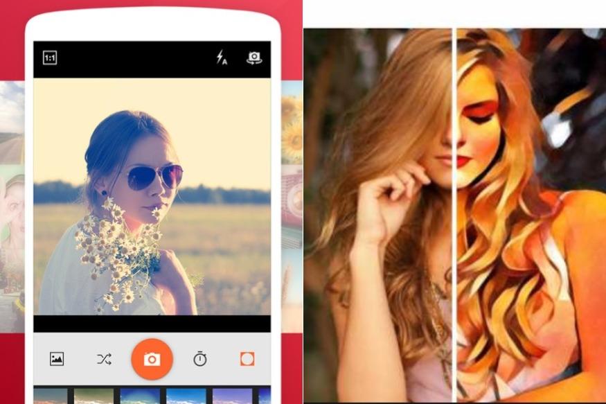लिस्ट में Selfie Camera Pro औक Prizma Photo Effect ऐप.