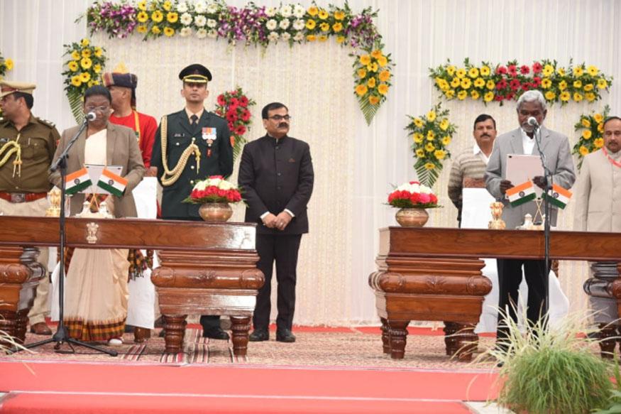सबसे पहले चंपई सोरेन को दिलाई गई मंत्रीपद की शपथ