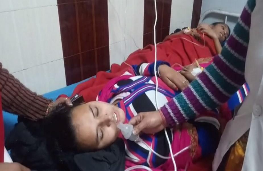 पेपर स्प्रे से हुए बेहोश बच्चों का  अस्पताल में इलाज जारी
