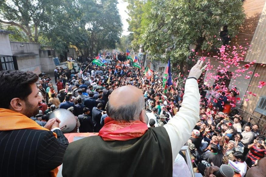 Delhi Election 2020, Delhi Assembly Election, CM Arvind Kejriwal, Aam Aadmi Party, BJP, Union Home Minister, BJP, Amit Shah,Delhi Assembly Elections, केंद्रीय गृह मंत्री, बीजेपी, अमित शाह, भाजपा, रो़ड शो, जेएनयू, टुकड़े गैंग, सीमापुरी विधानसभा, मादीपुर विधानसभा, हरि नगर विधानसभा