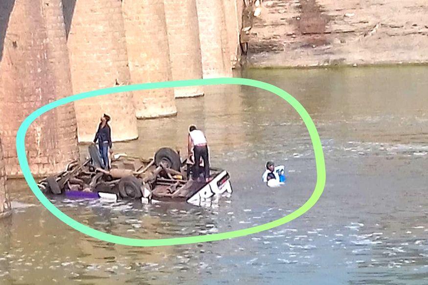 bundi, bus falls into mej river