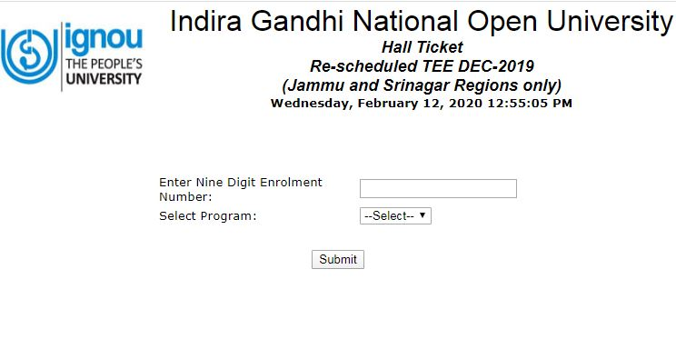 IGNOU BEd Admit Card 2020, jammu and srinagar region IGNOU BEd exam, IGNOU BEd exam date, IGNOU BEd, ignouhall.ignou.ac.in, इग्‍नू, इग्‍नू बीएड एडम‍िट कार्ड, एडम‍िट कार्ड, इग्‍नू बीएड एडम‍िट कार्ड जारी