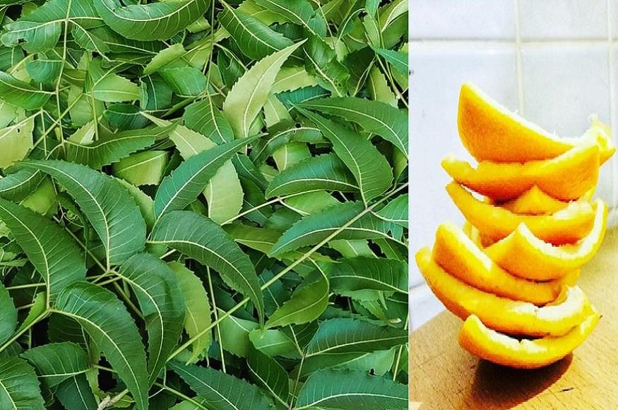 त्वचा के रोमछिद्रों को कम करने नीम का इस्तेमाल संतरों के छिलकों के साथ करना चाहिए.