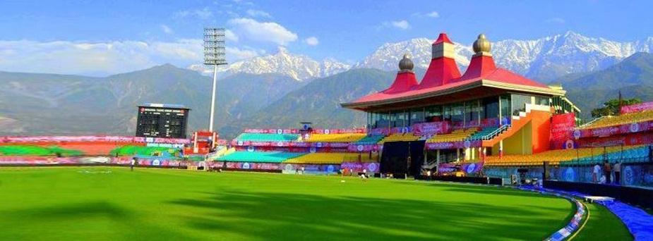 धर्मशाला क्रिकेट स्टेडियम.
