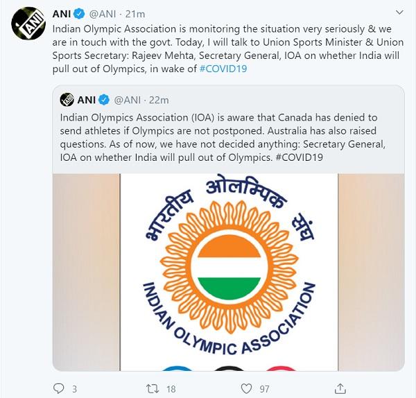coronavirus, tokyo olympic 2020, ioa, rajeev mehta, indian team, sports news,