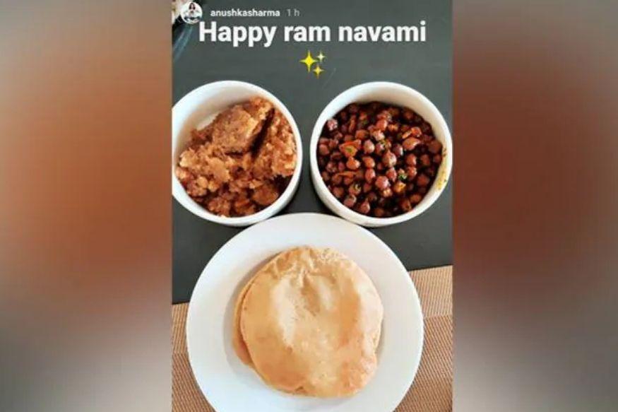 Anushka Sharma, Anushka Sharma celebrates Ramnavmi, Ramnavmi 2020, Anushka Sharma Cooks Traditional Halwa Puri, अनुष्का शर्मा, अनुष्का शर्मा ने बनाई हलवा पूड़ी, PM Narendra Modi, Coronavirus, Lockdown, Covid-19, Virat Kohli, बॉलीवुड, मनोरंजन, Bollywood, Entertainment
