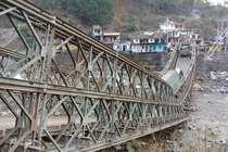 उत्तराखंड: चीन सीमा से जोड़ने वाला एक मात्र पुल ढहा