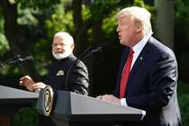 डोनाल्ड ट्रंप बोले- मुझे भारत से प्यार, मेरे दोस्त पीएम मोदी को मेरा सलाम कहना