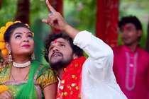 नवरात्रि में खेसारी लाल के भजन की धूम, सोशल मीडिया पर हुआ VIRAL