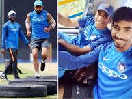 श्रीलंका के खिलाफ भारतीय क्रिकेट टीम वनडे सीरीज का पहला मैच दांबुला में रविवार को खेलगी. भारत ने तीन टेस्ट मैचों की सीरीज 3-0 से जीती और अब यह लय वनडे सीरीज में भी जारी रखना चाहेगा. यह हालांकि किसी और सीरीज की तरह नहीं होगी क्योंकि मुख्य चयनकर्ता एमएसके प्रसाद साफ तौर पर कह चुके हैं कि इंग्लैंड में 2019 में होने वाले विश्व कप के मद्देनजर फिटनेस पर विशेष जोर रहेगा. भारतीय टीम ने जमकर अभ्यास किया. खोसकर विराट कोहली ट्रक के टायरों पर रनिंग करके खुद की फिटनेस परखते नजर आए. (twitter)