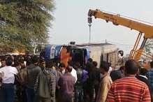 एमपीः बसों में आगे निकलने की होड़ में हादसा, एक की मौत और 15 घायल