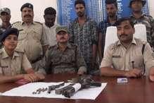 VIDEO: हथियारों के साथ दबोचे गए तीन अपराधी