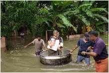 रोम से आ रही बाढ़ पीड़ितों के लिए मदद