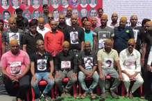 एससी-एसटी एक्ट के विरोध में अशोकनगर में सामूहिक मुंडन