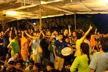 JNU प्रेसिडेंशियल स्पीच: ABVP उम्मीदवार को लेकर बना रहा तनाव, रोकना पड़ा भाषण