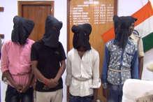 लूट की योजना बना रहे 4 बदमाश पुलिस के हत्थे चढ़े