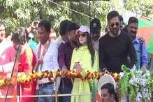 VIDEO: सिवनी में BJP प्रत्याशी के लिए सुनील शेट्टी और अमीषा पटेल ने किया रोड शो