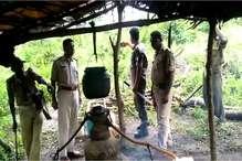 VIDEO: पलामू में शराब माफियाओं के खिलाफ एक्शन, कई जगह भट्ठियां नष्ट