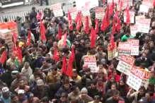 VIDEO: देशव्यापी हड़ताल में शामिल हुए IGMC के आउटसोर्स स्टाफ, नहीं दिखा असर