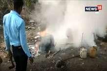 VIDEO: अवैध शराब के 15 ठिकानों पर कार्रवाई, 40 हजार लीटर लहान नष्ट