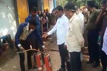 VIDEO: चूरू में भारत गैस गोदाम में अग्निशमन यंत्रों ने नहीं किया काम
