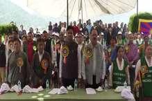 PHOTOS : तिब्बती महिला संघ ने 11वें पंचेन लामा के जन्म दिवस पर हैप्पीवैली में निकाला शांति मार्च