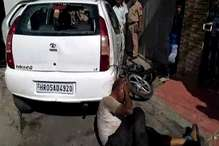 करनाल में शराबी ने कई वाहनों पर चढ़ाई कार, गुस्साए लोगों ने की जमकर धुनाई