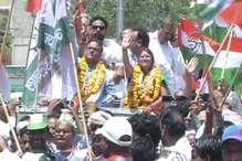 कांग्रेस का ज्योति खंडेलवाल के समर्थन में रोड शो