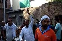 फरीदाबाद री-इलेक्शन: पोलिंग सेंटर के बाहर लगे मोदी-मोदी के नारे