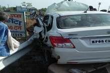 भीषण सड़क हादसे में आरक्षक की पत्नी और 3 बच्चियों सहित मौत