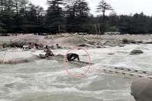 VIDEO: ब्यास नदी में मस्ती करने उतरा टूरिस्ट, यूं बचाया गया